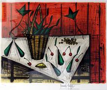 Bernard BUFFET (1928-1999) - Nature morte au panier
