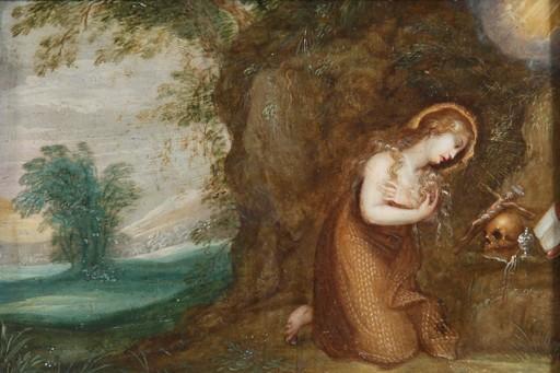 Hendrik I VAN BALEN - Pintura - Maria Magdalena in der Landschaft
