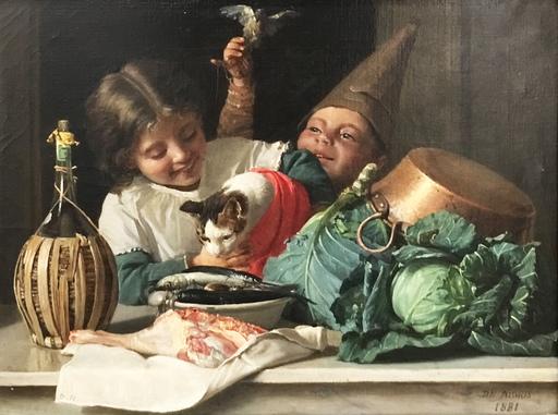 Giuseppe DE NIGRIS - Peinture - Il gatto