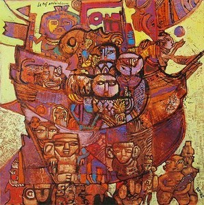 Christophe RONEL - Gemälde - La nef amérindienne