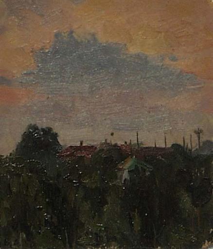 Vladimir M. SINITSKI - Painting -  Evening, Oil on board