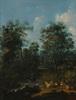 """Frederik DE MOUCHERON - 绘画 - Frederik de Moucheron (1633-1686)-Circle """"Woodland scene"""""""