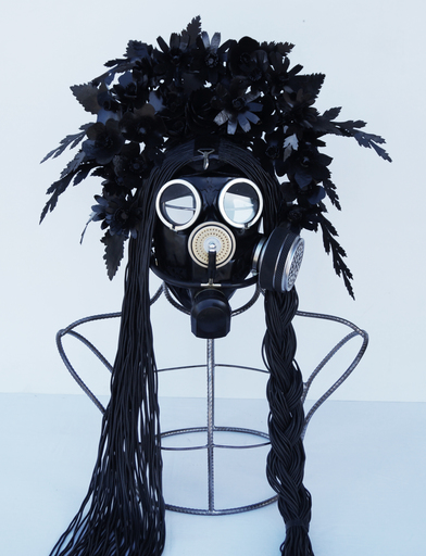 Vasily SLONOV - Sculpture-Volume - Kokosnik-Gas Mask «Rubber Primrose»