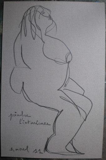 Bernard MOREL - Drawing-Watercolor - FEMME