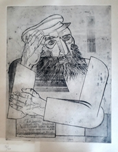 Jankel ADLER - Print-Multiple - Rabbi