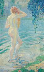 William MALHERBE - 绘画 - Nu à la rivière