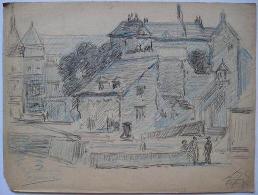 Jean SORLAIN - Zeichnung Aquarell - DESSIN ORIGINAL 1930 SIGNÉ MAIN HANDSIGNED DRAWING
