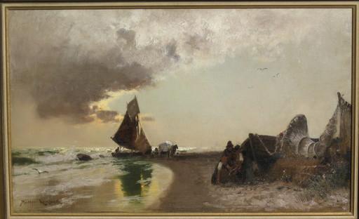 Konrad Alexander MÜLLER-KURZWELLY - Pintura - Am Strande