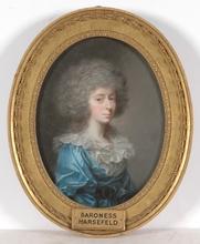 "Johann Heinrich SCHRÖDER - Miniature - ""Baroness Harsefeld"", Pastel from Royal Collection"