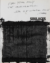 Pierre SOULAGES - Drawing-Watercolor - Noir lumière