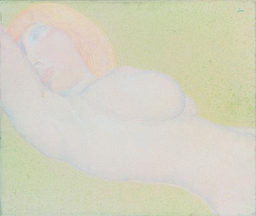 Ernst FUCHS - Painting - Eva- Nude