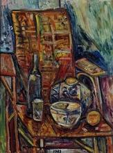 Pinchus KREMEGNE - Pintura - The chair in the atelier
