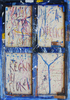 Nicola DE MARIA - Peinture - Citta' sposa infelice+ graffi+ regno dei fiori