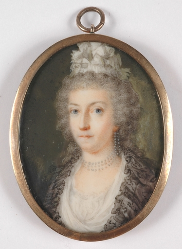 "Miniatura - ""Duchess of Parma"", important miniature on ivory"