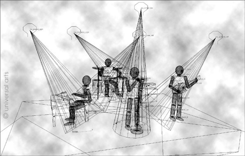 "Mario STRACK - Print-Multiple - ""The Band - Wireframe"""