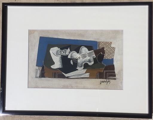 Juan GRIS - Painting - NATURE MORTE AU COMPOTIER ET AU VIOLON