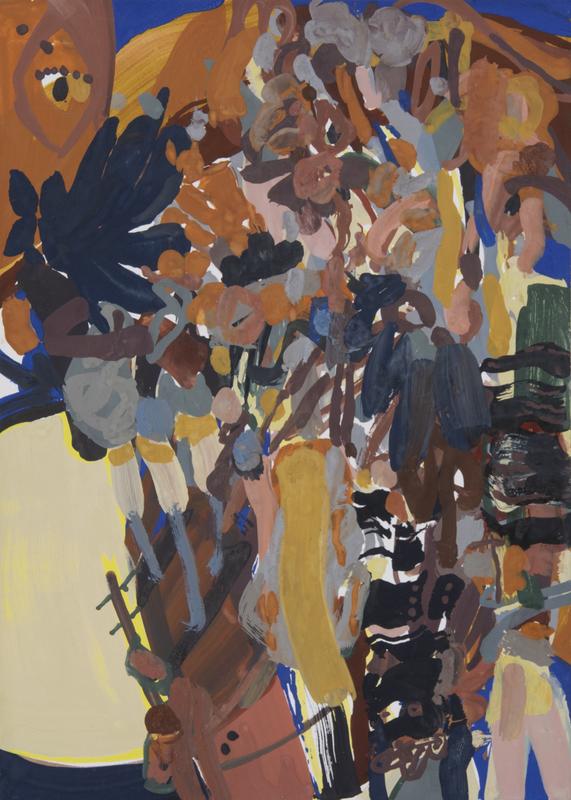 Sandra DETOURBET - Painting - Le Fable Et Le Mouton Loup