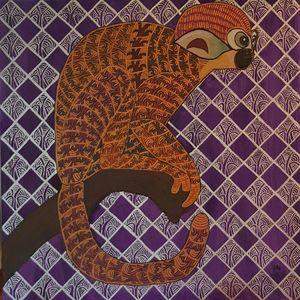 Annemarie HOFFMANN - Painting - BaumTotenkopfäffchen    (Cat N° 6401)