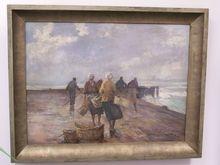 Bruno JÜTTNER - Painting - Visservrouwen op wacht