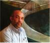 Raul ENMANUEL - Pintura - Formas en azul y naranja