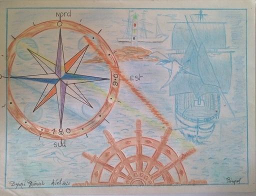 Gérard DUPIRÉ - Drawing-Watercolor - Navigation inspiration orientation