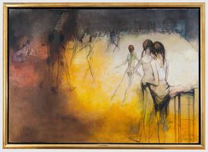 Jean JANSEM - Peinture - Ballerina's on stage
