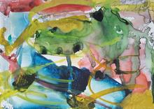 格哈德·里希特 - 水彩作品 - Untitled 78 hand painted Watercolor