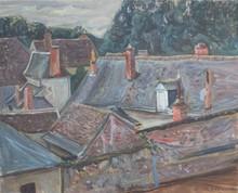 Émile SABOURAUD - Painting - Les toits