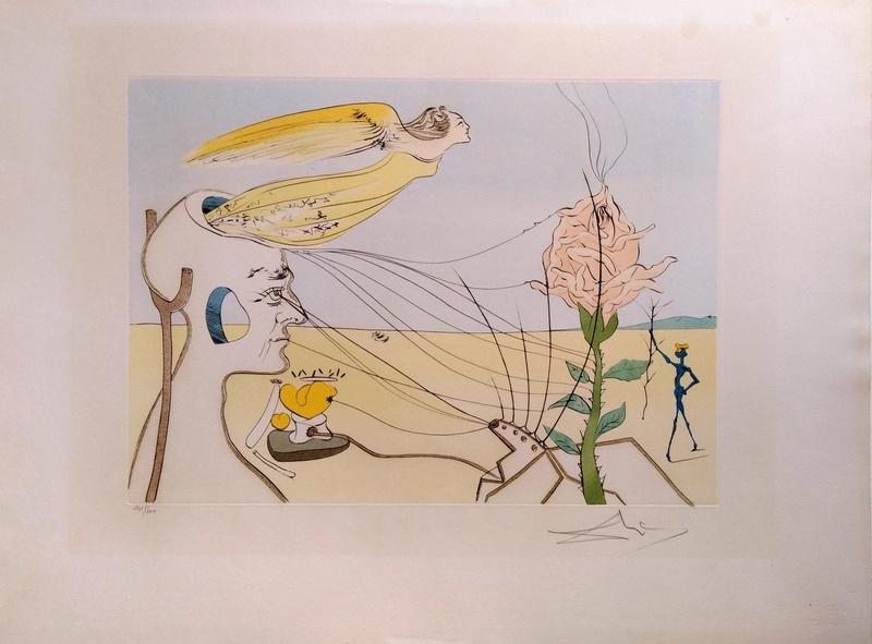 萨尔瓦多·达利 - 版画 - The Dream