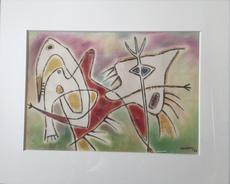 Gérard VULLIAMY - Painting - Composition