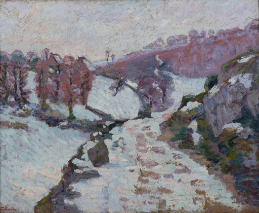 Armand GUILLAUMIN - Painting - Gelée blanche à Crozant