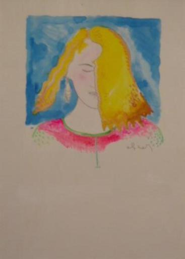 Luca ALINARI - Drawing-Watercolor - Ritratto