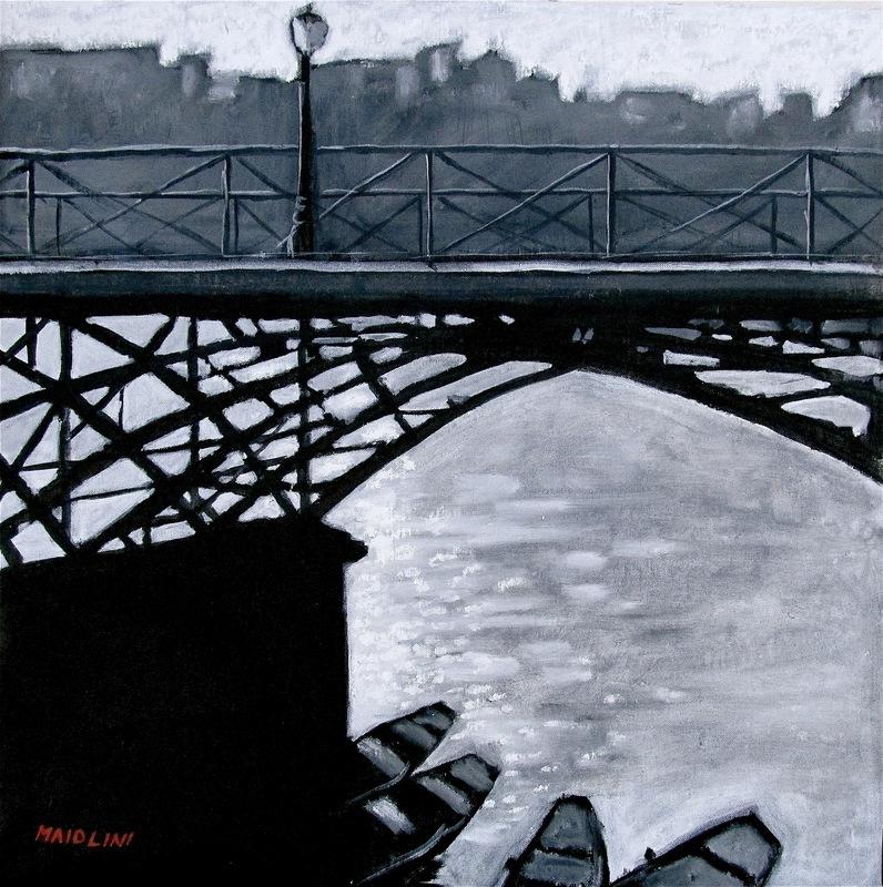 Carlo MAIOLINI - Peinture - Sous le Pont