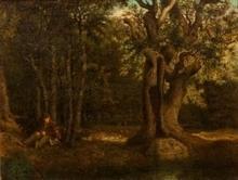 Gustave COURBET - Peinture - Forêt de Fontainebleau, le Chêne de Béranger