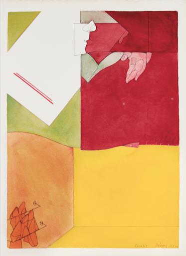 Valerio ADAMI - Drawing-Watercolor - Rosalie