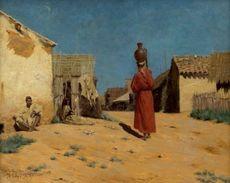 Jules TAUPIN - Painting - Chez Les Beni-Aissi (G de Kabylie.)