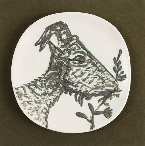巴勃罗•毕加索 - 陶瓷  - Tête de Chèvre de Profil