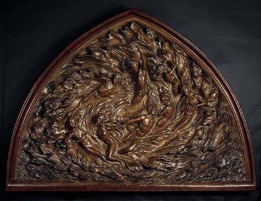 Frederick Elliot HART - Skulptur Volumen - Ex Nihilo: Working Model (Bronze)