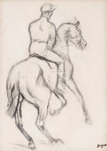 Edgar DEGAS - Estampe-Multiple - Jockey à cheval