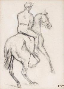 Edgar DEGAS - Grabado - Jockey à cheval