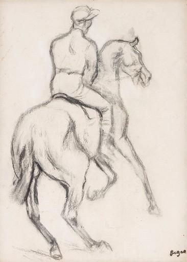 Edgar DEGAS - Estampe-Multiple - Jockey à cheval