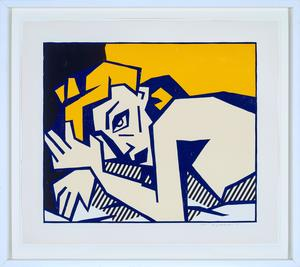 Roy LICHTENSTEIN - Print-Multiple - Reclining Nude, from Expressionist Woodcut Series