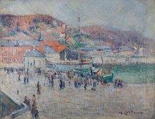 Gustave LOISEAU - Painting - fecamp harbor