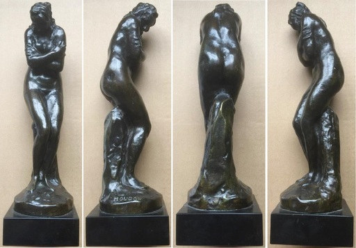 Jean Antoine HOUDON - Escultura - After 1783 « The chilly or The winter»