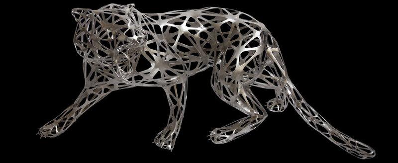 richard orlinski tigre dentelle 1341885 place de march artprice. Black Bedroom Furniture Sets. Home Design Ideas