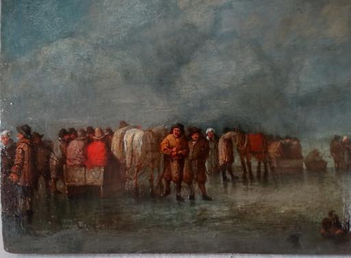 Aert I VAN DER NEER - Gemälde - Skating