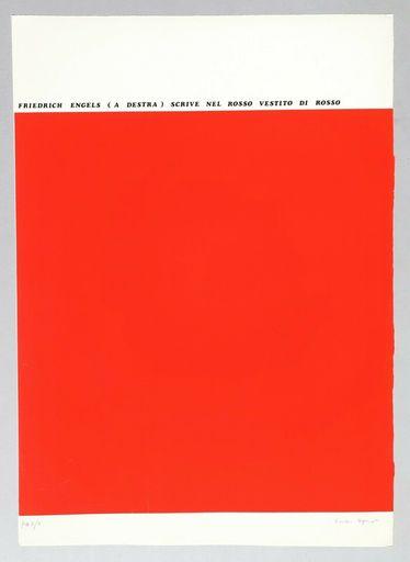 Emilio ISGRO - Stampa-Multiplo - Friedrich Engels (a destra) scrive nel rosso vestito di ross