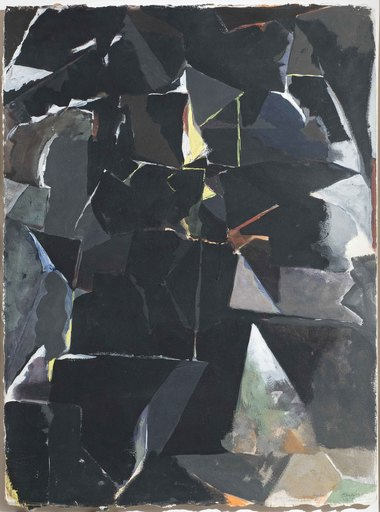 Avigdor ARIKHA - Painting - Abstract composition in black