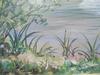 Bernard MAURICE - Peinture - Bord de rivière en été