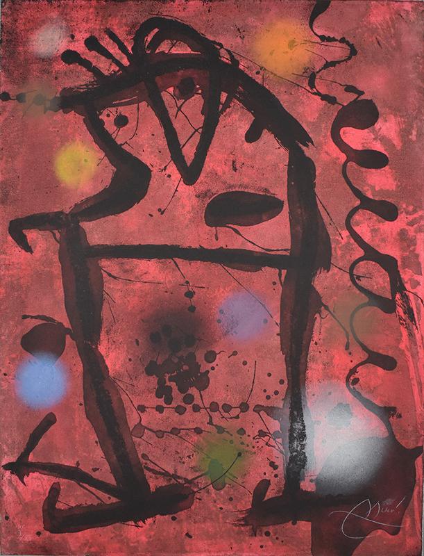 胡安·米罗 - 版画 - Large Cave Paintings VII | Gran Rupestres VII